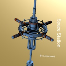 Space Station 3D Models LDowswell