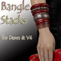 Bangle Stacks for Dawn and V4 3D Figure Assets 3D Models jancory