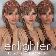 Sabby-Enlighten: Lights for DAZ Studio 3D Lighting : Cameras Sabby