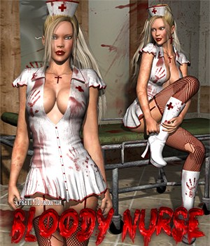 Bloody Nurse 3D Figure Assets Pretty3D