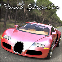 French Sports Car (Poser, 3ds, Vue, Obj) 3D Models RPublishing