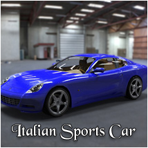 Italian Sports Car (poser, 3ds, vue, obj) Props/Scenes/Architecture Software Transportation Themed RPublishing