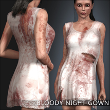 Bloody Night Gown 3D Figure Assets 3D Models mytilus