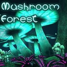 The Mushroom Forest 2D Graphics Hinkypunk