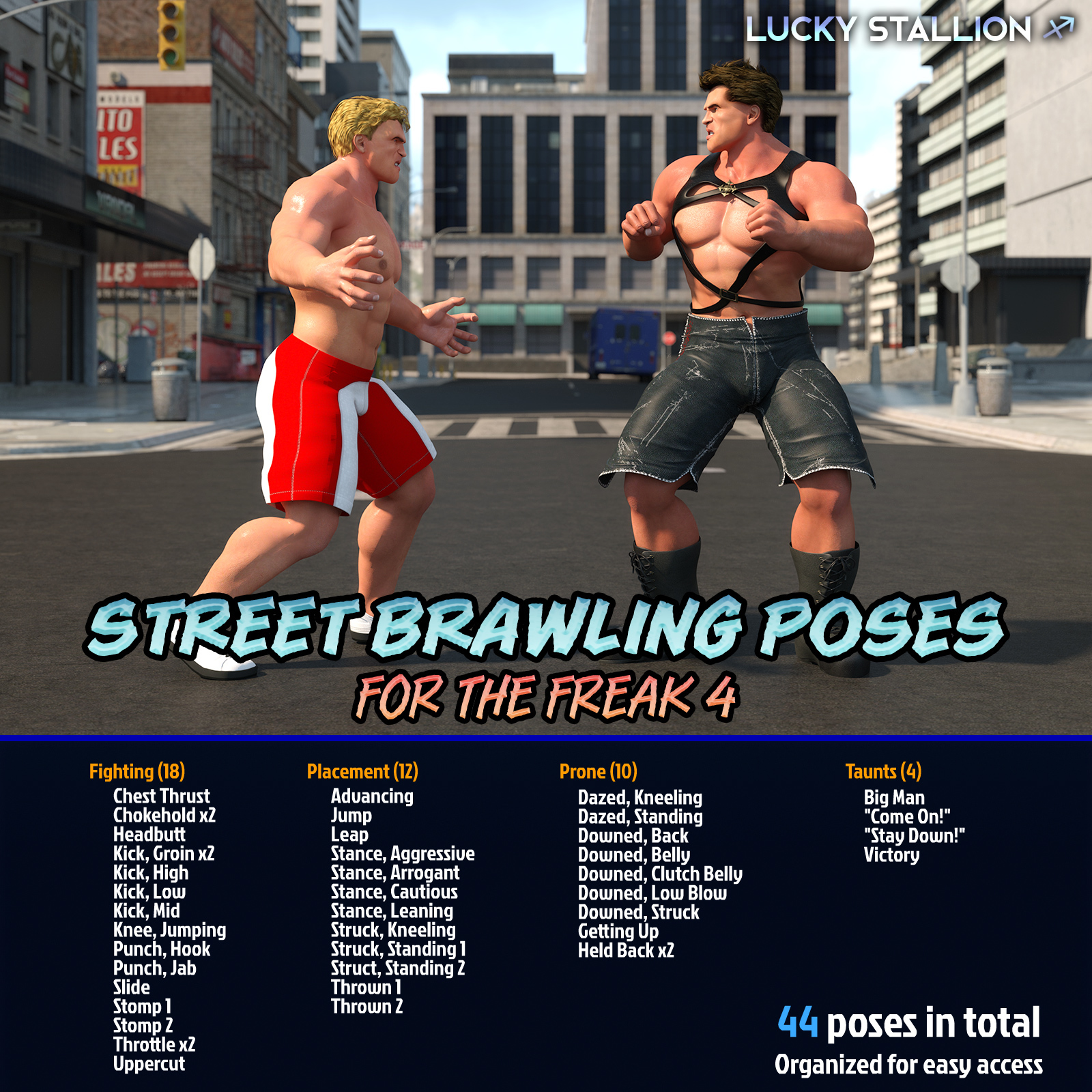 Street Brawling Poses for F4