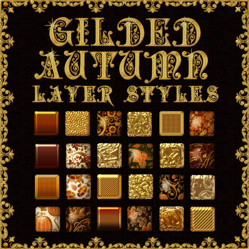 Gilded Autumn Layer Styles