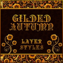 Gilded Autumn Layer Styles 2D And/Or Merchant Resources Themed fractalartist01
