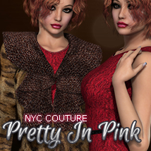 NYC Couture: Pretty In Pink 3D Figure Assets 3DSublimeProductions