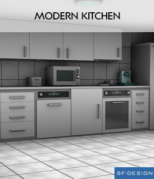 Modern Kitchen 3D Models SF-Design