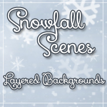SnowFall Scenes PSDs 2D And/Or Merchant Resources Hinkypunk