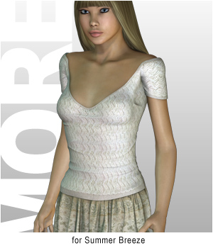 MORE Textures & Styles for Summer Breeze 3D Figure Assets 3D Models motif