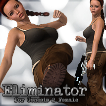 Eliminator For Genesis 2 3D Models 3D Figure Essentials lunchlady