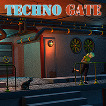 Techno gate Props/Scenes/Architecture Themed 1971s