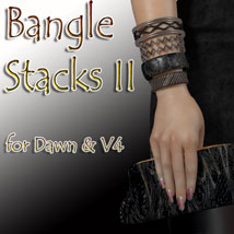 Bangle Stacks II 3D Figure Assets jancory