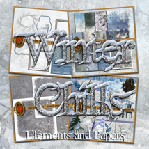 Winter Chills Elements & Papers 2D gillbrooks