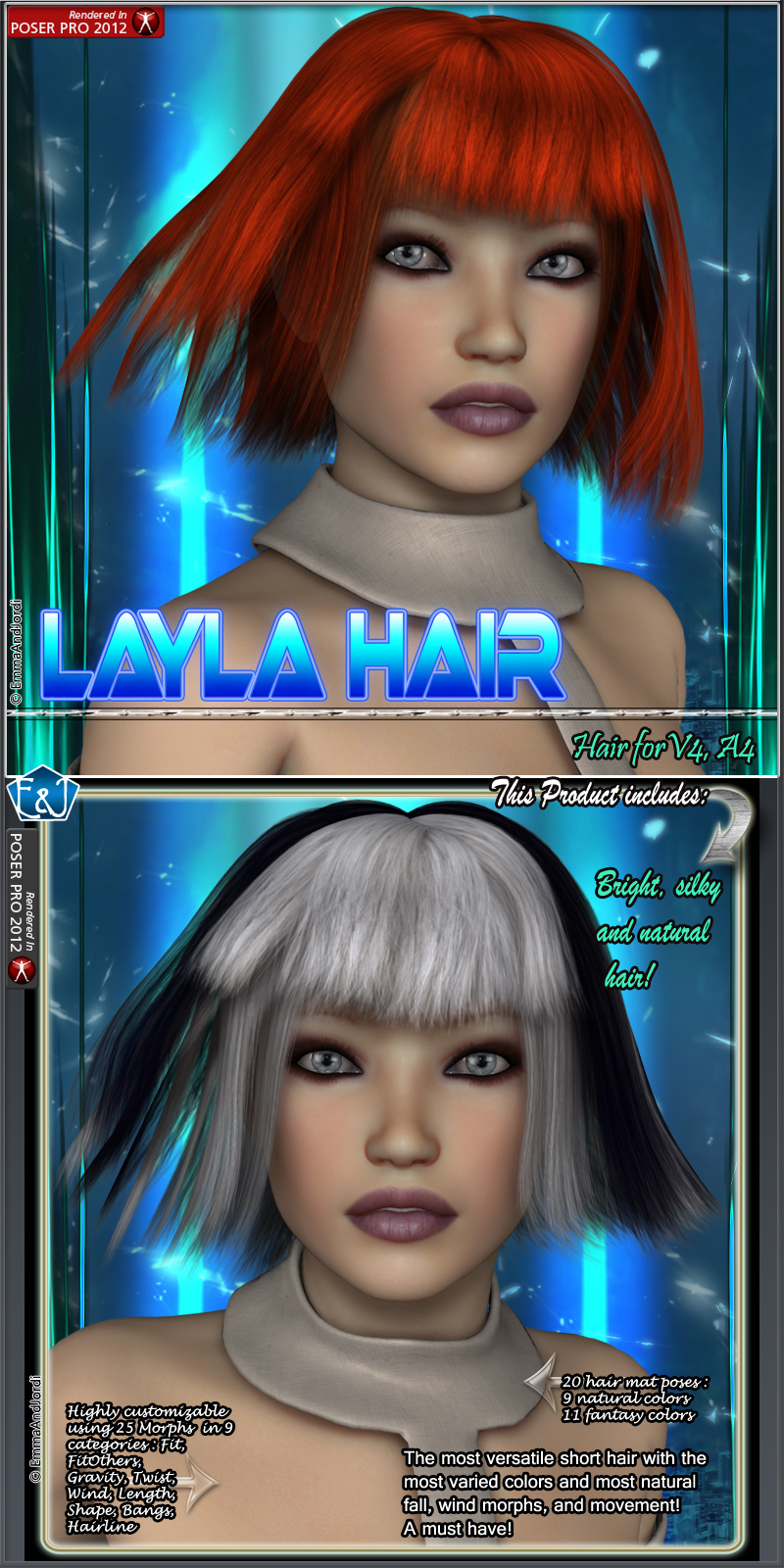 Layla Hair For V4 And A4