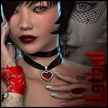 Lethal for Tiny Lace Gloves Clothing Themed Accessories Sveva