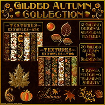 Gilded Autumn Collection w/Free Bonus  2D 3D Models fractalartist01