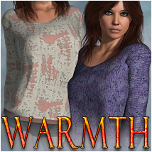 Warmth for Cajj Sweater 3D Figure Assets OziChick
