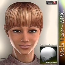 Viola Hair - MSC 3D Figure Assets 3Dream