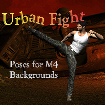 Urban Fight for M4 2D Graphics 3D Figure Assets Leije