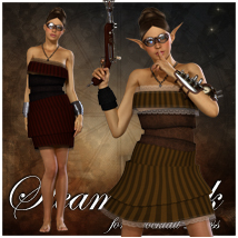 Steam Passion for Cocktail Dress 3D Figure Essentials 3D Models jonnte