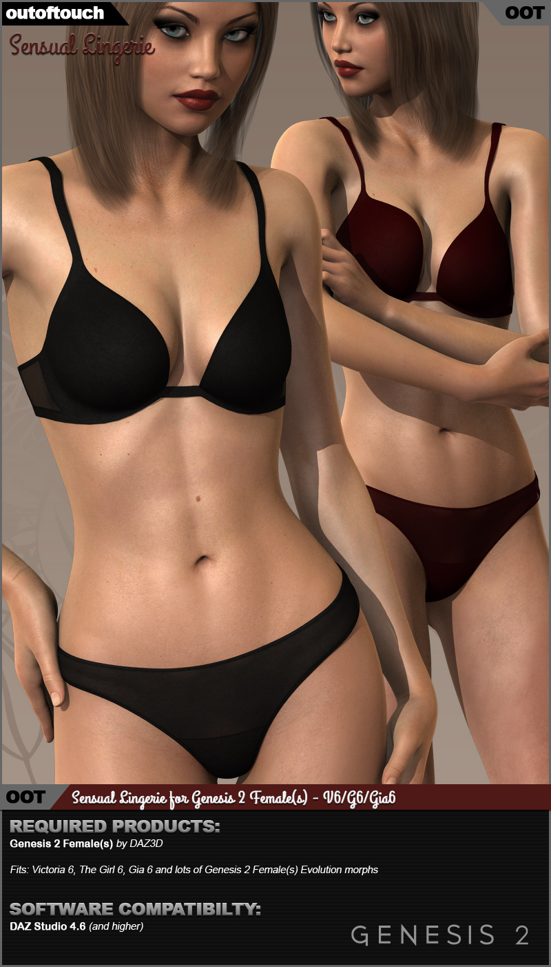 Sensual Lingerie for Genesis 2 Female(s)