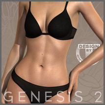 Sensual Lingerie for Genesis 2 Female(s) 3D Figure Essentials 3D Models outoftouch