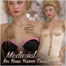 Medieval for Rose Raven Corset Clothing Atenais