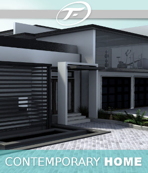 Contemporary Home 3D Models TruForm