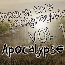Interactive Backgrounds: Vol1 -  Apocalypse 2D And/Or Merchant Resources Hinkypunk