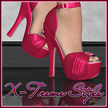 X-Treme Style: Dolly Shoes for V4 3D Figure Essentials BitterSweet