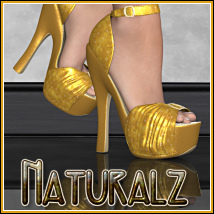 Naturalz: Dolly Shoes for V4 3D Figure Essentials BitterSweet