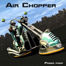 Air chopper poser prop 3D Models kanaa