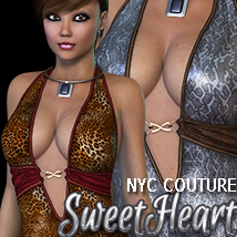 NYC Couture: SweetHeart V4/A4/G4 Clothing 3DSublimeProductions