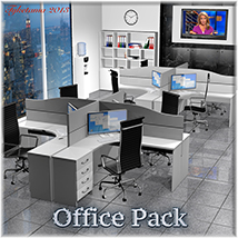Office Pack 3D Models Lights OR Cameras tuketama