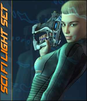 Sci-Fi Light Set Software 3D Models lilflame