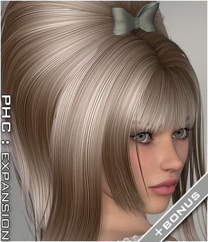PHC : HR-117 Themed Hair P3D-Art