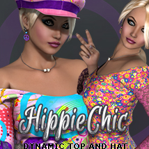 i13_3DS Easy Dynamics Hippie Chic 3D Figure Essentials 3DSublimeProductions