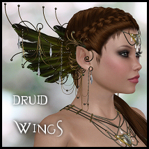 Druid Wings 3D Figure Essentials 3D Models Propschick