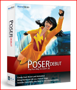 Poser Debut 3D Software : Poser : Daz Studio Poser Software : Smith Micro Smith_Micro