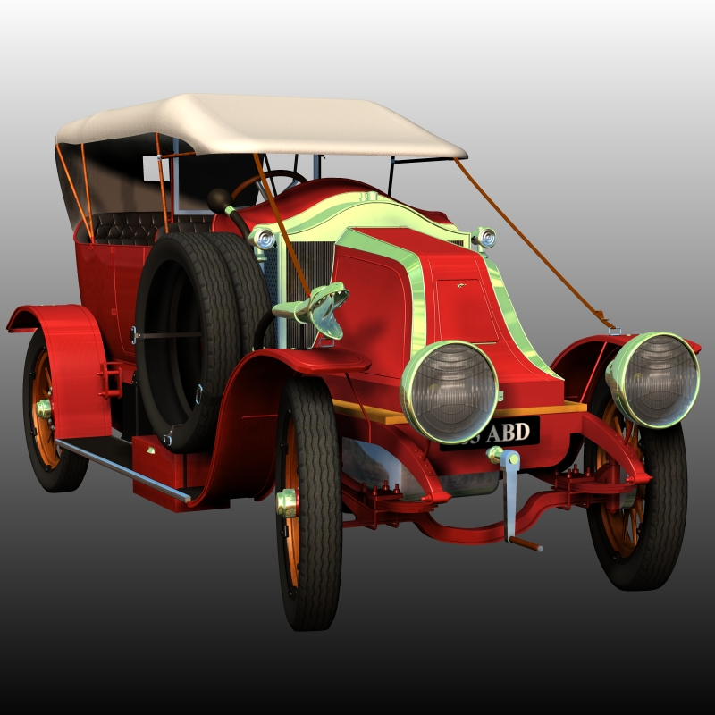 RENAULT V1 1909 (for Poser) by 3DClassics