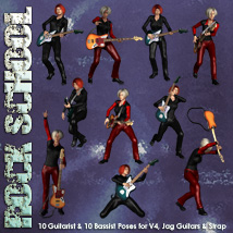 Rock School V4 Jag Poses 3D Figure Essentials 3D Models Simon-3D
