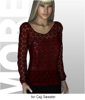 MORE Textures & Styles for Cajj Sweater 3D Figure Assets 3D Models motif