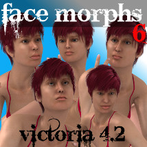 Farconville's Face Morphs 6 for Victoria 4.2 3D Models 3D Figure Essentials farconville
