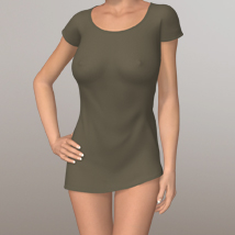 Simple T-Shirt II 3D Figure Assets 3D-Age