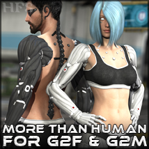 HFS More Than Human G2 Expansion 3D Figure Assets 3D Models DarioFish