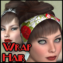 Wrap Hair V4-A4 3D Figure Essentials nikisatez