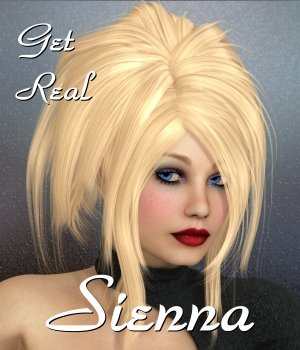 Get Real for Sienna Hair 3D Figure Assets chrislenn