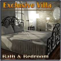 Exclusive Villa 1: Bath and Bedroom 3D Models 3-d-c